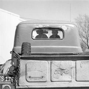 Boys in a Pickup. Simla, Colorado. 1970. © Robert Adams. Image courtesy of Fraenkel Gallery.