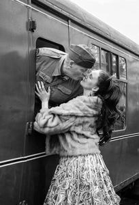 A goodbye kiss