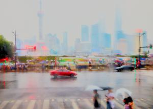 7 Shanghai view on a rainy evening