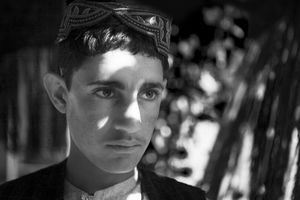 "Rafiullah describes how his grandmother was killed. From the series ""Silent Night"" © Lela Ahmadzai"