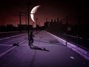 The kid and the moon