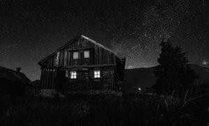 Cabane solitaire d'un berger.