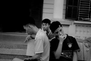 My, Kien, and Tân at Làng Hữu Nghị,