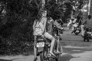 Girl Checking Traffic