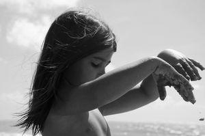 Manuela living by the beach