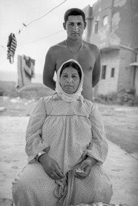 arab mother and son