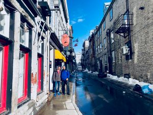 Julian and Paul in Quebec City