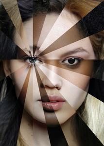 FACE-Spectres of 22  different   ethnic origins. Art-collage №9