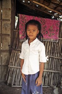 Cambodian Girl In Her Home