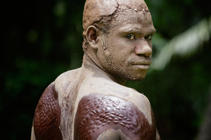 Member of the Chambri tribe -  Papua New Guinea- during a initiation ritual.