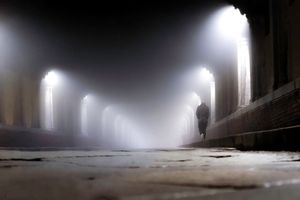 A bridge of fog