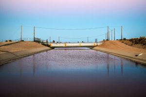 Intersection of the Los Angeles and California Aqueducts, Neenach, CA
