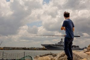 Vincent and the Navy ship