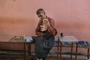 Mustafa in the Caihana (teahouse)