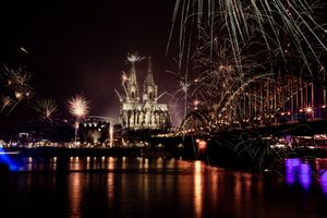 Firework In Cologne