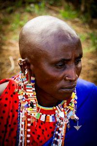 Profile of a Maasai man