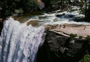 Vernal Falls w hikers