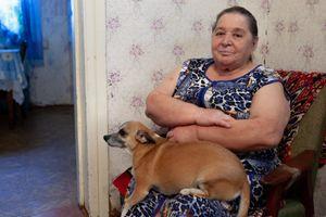 Chernobyl - Valentina and her dog, Donna
