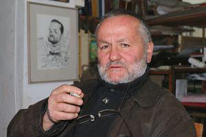 Artist Rumen Bozhinov in his Studio in Sandanski, Bulgaria.