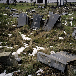 Vučitrn, Kosovo, October 2013. A Cemetery destroyed by the Albanian-fury.
