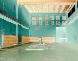 Abandoned gym in Pyramiden.