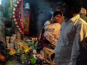 In Lake Market, Kolkata