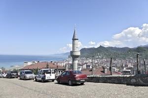 New estate of the businessman Mehmet Nazif Günal overlooking the Laz city of Arhavi on the Turkish Black Sea Coast.