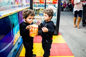 Twins at the carnival