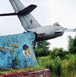 Germany East, Grossenhain. Mig plane on a Soviet Air Force base.