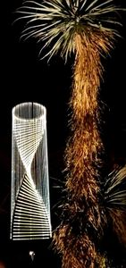 Palm Tree with fiber optic light feature