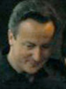 """No. 4 most powerful Londoner: David Cameron. From the series """"You Haven't Seen Their Faces"""" © Daniel Mayrit"""