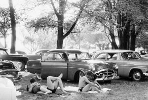 """Picnic Ground-Glendale, California, 1958. From """"The Americans."""" © Robert Frank. Published by Robert Delpire, then Grove Press, and most recently reprinted by Steidl."""