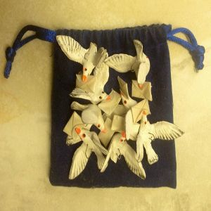 flight of Mexican carrier pigeon ornaments