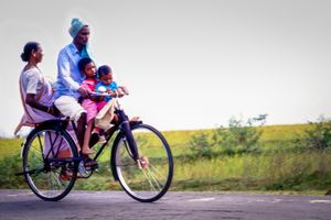 Joyride in the family bicycle.