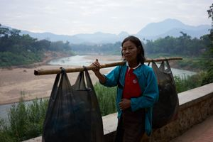 Laos Market Woman
