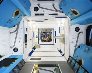 Columbus Training Simulator, Cologne, Germany. The Advanced Training phase focuses on in-depth knowledge of Columbus systems, payloads and Automated Transfer Vehicles (ATV), as well as related operational procedures. The European Astronaut Centre provides training facilities covering these elements and payloads. © Edgar Martins