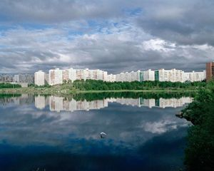 "Lake Glubokoye. Murmansk, Russia, 2010. From the series ""City of Night, City of Day"" © Nadia Sablin"