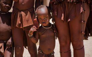 Shy Himba boy