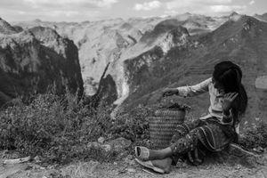 Girl and Mountains