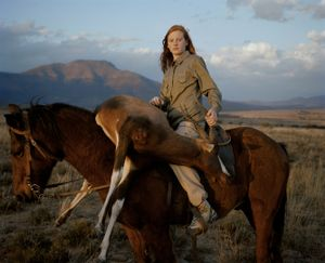 huntress with buck, south africa-from the series 'hunters'-David Chancellor