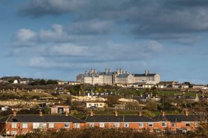A view across the houses of HMP/YOI Portland, a resettlement prison with a capacity for 530 prisoners.
