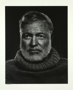 Ernest Hemingway, 1957, silver print, gift of the artist, 1975. Courtesy of The Estate of Yousuf Karsh and La Parisienne de Photographie, 2015.