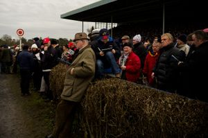 A crowd at the National Coursing Meeting. Clonmel, Co. Tipperary, Ireland. 03 Feb 2014