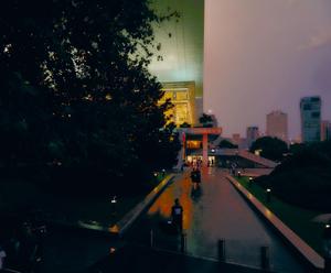 8 Shanghai view on a rainy evening