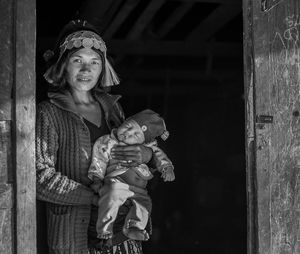 Akha woman and child