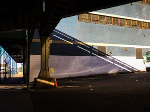 shadow of the port authority overpass