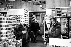 At work - hypermarket of fruit