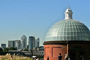 Canary Wharf And The Greenwich Foot Tunnel