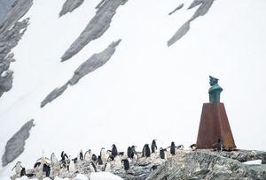 Bust of Captain Pardo - Elephant Island, Antarctica