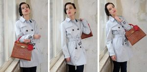 Trenchcoat and Kelly Bag